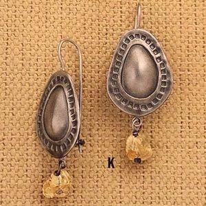 W1192 Silpada Sterling Silver Citrine Earrings